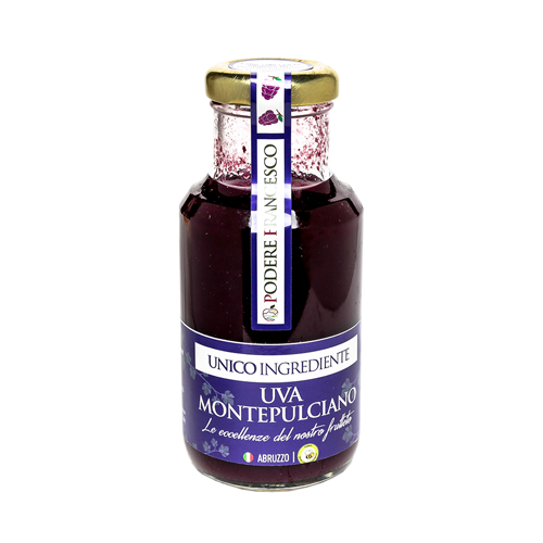 Succo di Frutta Senza Zuccheri Uva Montepulciano Prodotti Podere Francesco Abruzzo